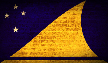 tokelau: Flags of Tokelau with dirty paper texture. Vector illustration