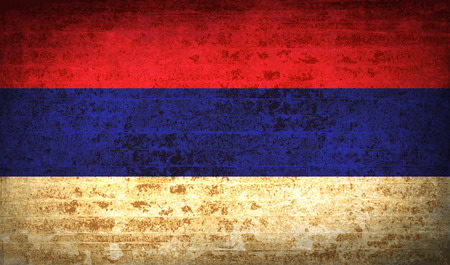 republika: Flags of Republika Srpska with dirty paper texture. Vector illustration Illustration