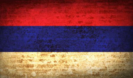 republika: Flags of Republika Srpska with dirty paper texture. Vector illustration Illustration