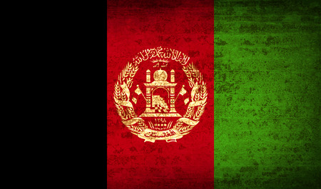afghan: Flags of Afghanistan with dirty paper texture. Vector illustration
