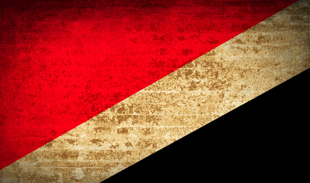 sealand: Flags of Sealand Principality with dirty paper texture. Vector illustration