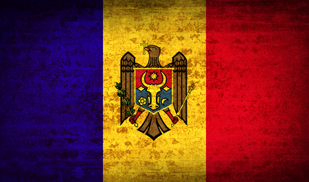 moldovan: Flags of Moldova with dirty paper texture. Vector illustration