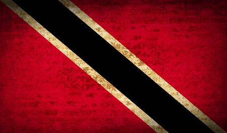 trinidadian: Flags of Trinidad and Tobago with dirty paper texture. Vector illustration
