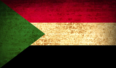 proportional: Flags of Sudan with dirty paper texture.  illustration. Raster copy Stock Photo