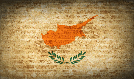 proportional: Flags of Cyprus with dirty paper texture.  illustration. Raster copy