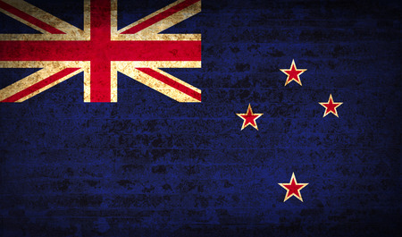 new zeland: Flags of New Zeland with dirty paper texture.  illustration. Raster copy