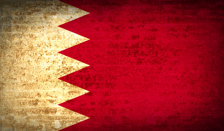 proportional: Flags of Bahrain with dirty paper texture.  illustration. Raster copy