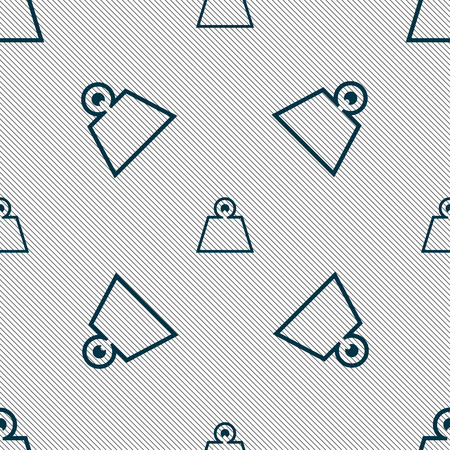 cast iron: Weight icon sign. Seamless pattern with geometric texture. Vector illustration Illustration