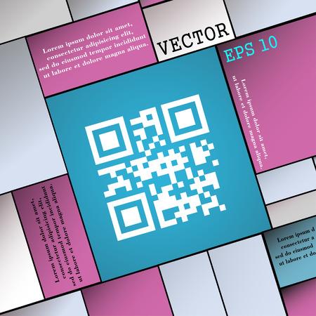 Qr code icon sign. Modern flat style for your design. Vector illustration Illustration