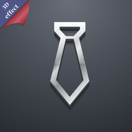 formal party: Tie icon symbol. 3D style. Trendy, modern design with space for your text Vector illustration