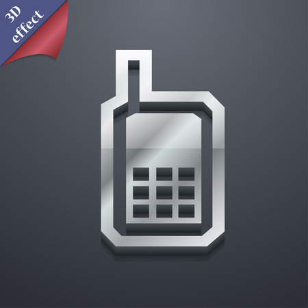 mobile phone icon: Mobile phone icon symbol. 3D style. Trendy, modern design with space for your text Vector illustration