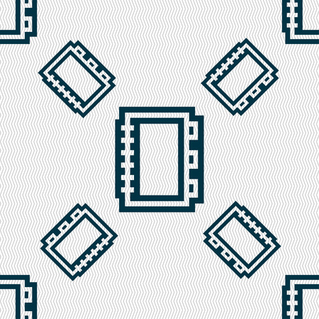 videobook: Book icon sign. Seamless pattern with geometric texture. Vector illustration Illustration