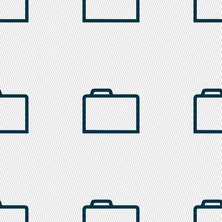 map case: Folder icon  sign. Seamless pattern with geometric texture. Vector illustration