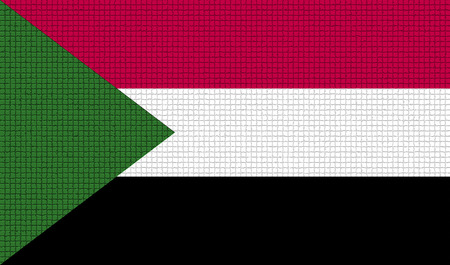 proportional: Flags of Sudan with abstract textures. Rasterized version