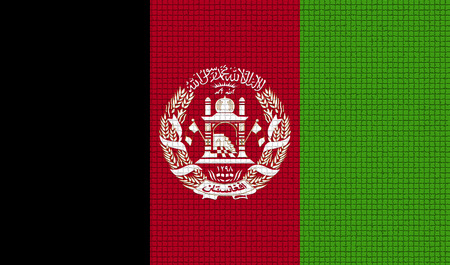 national flag: Flags of Afghanistan with abstract textures. Rasterized version