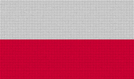 rasterized: Flags of Poland with abstract textures. Rasterized version Stock Photo