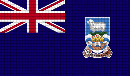 rasterized: Flags of Falkland Islands with abstract textures. Rasterized version Stock Photo