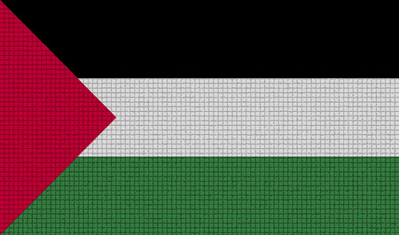 palestine: Flags of Palestine with abstract textures. Rasterized version
