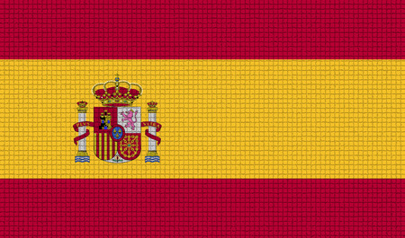 rasterized: Flags of Spain with abstract textures. Rasterized version