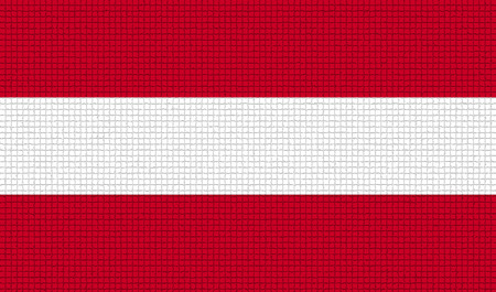 rasterized: Flags of Austria with abstract textures. Rasterized version