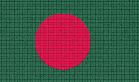 bangladesh: Flags of Bangladesh with abstract textures. Rasterized version