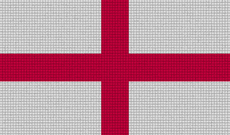 rasterized: Flags of England with abstract textures. Rasterized version Stock Photo