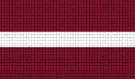 rasterized: Flags of Latvia with abstract textures. Rasterized version