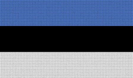 rasterized: Flags of Estonia with abstract textures. Rasterized version