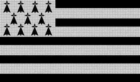 rasterized: Flags of Brittany with abstract textures. Rasterized version