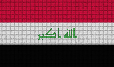 taliban: Flags of Iraq with abstract textures. Rasterized version Stock Photo