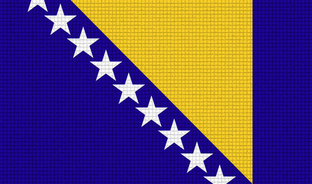 rasterized: Flags of Bosnia and Herzegovina with abstract textures. Rasterized version