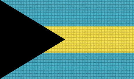 rasterized: Flags of Bahamas with abstract textures. Rasterized version