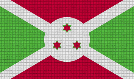 rasterized: Flags of Burundi with abstract textures. Rasterized version