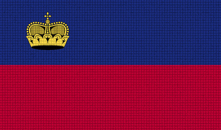 princely: Flags of Liechtenstein with abstract textures. Rasterized version