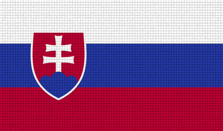 rasterized: Flags of Slovakia with abstract textures. Rasterized version