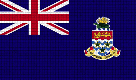 rasterized: Flags of Cayman Islands with abstract textures. Rasterized version