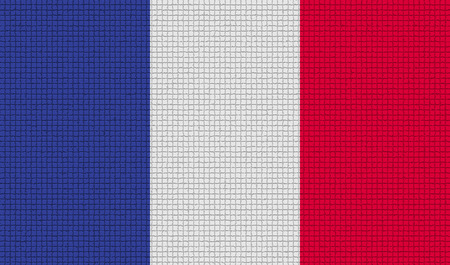 frence: Flags of Frence with abstract textures. Rasterized version