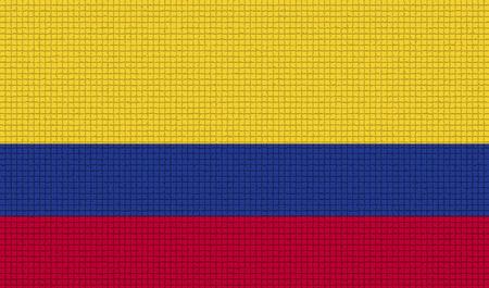 bandera de colombia: Banderas de Colombia con texturas abstractas. versión rasterizada