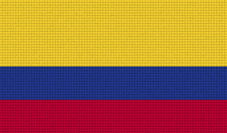 colombian flag: Flags of Colombia with abstract textures. Rasterized version