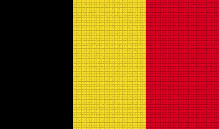 rasterized: Flags of Belgium with abstract textures. Rasterized version Stock Photo