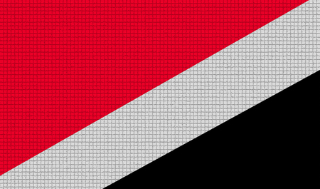 principality: Flags of Sealand Principality with abstract textures. Rasterized version