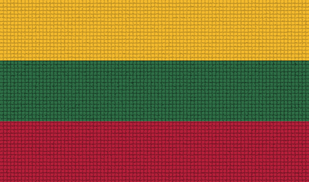rasterized: Flags of Lithuania. with abstract textures. Rasterized version