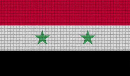 rasterized: Flags of Syria with abstract textures. Rasterized version