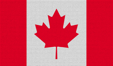 rasterized: Flags of Canada with abstract textures. Rasterized version