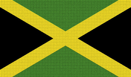 rasterized: Flags of Jamaica with abstract textures. Rasterized version