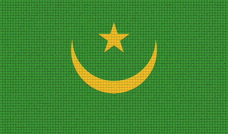 northwest africa: Flags of Mauritania with abstract textures. Rasterized version