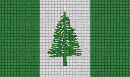 rasterized: Flags of Norfolk Island with abstract textures. Rasterized version