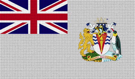 the antarctic: Flags of British Antarctic Territory with abstract textures. Rasterized version