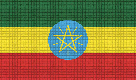 ethiopia abstract: Flags of Ethiopia with abstract textures. Rasterized version Stock Photo