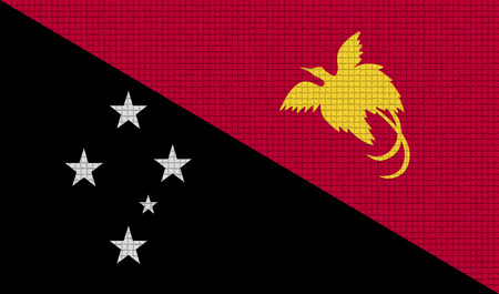 rasterized: Flags of Papua New Guinea with abstract textures. Rasterized version